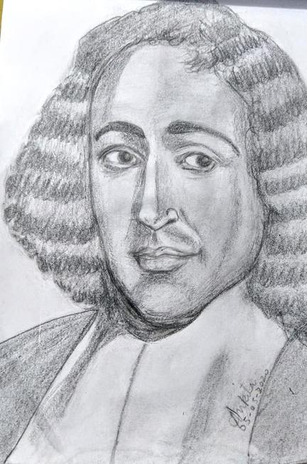Baruch Spinoza by Ankita
